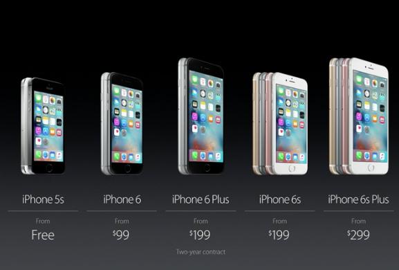 iPhone 6s oficial precios