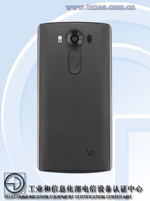 LG V10 vista posterior