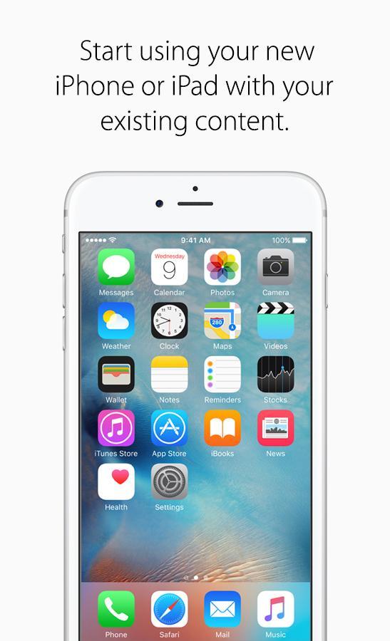 Move to iOS apple