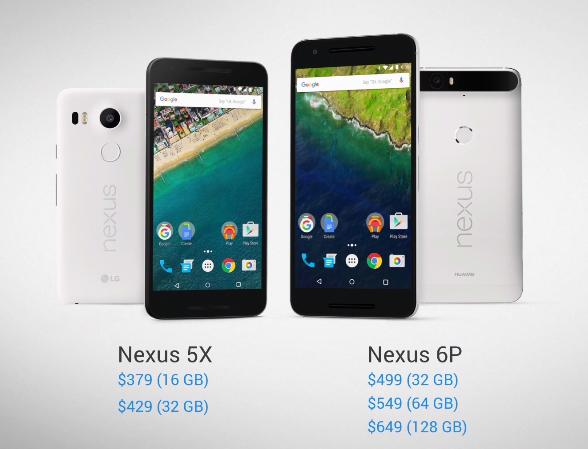 Google  Nexus 5X y Nexus 6P precios oficiales