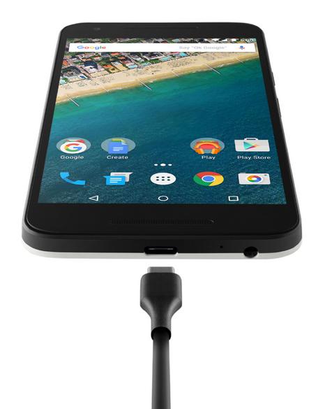 Nexus 5X oficial Conector USB Tipo C