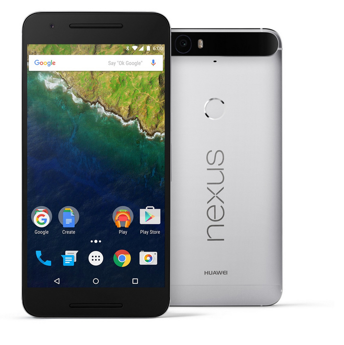 Google Nexus 6P color plata