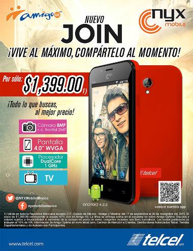 Nyx Join México Telcel