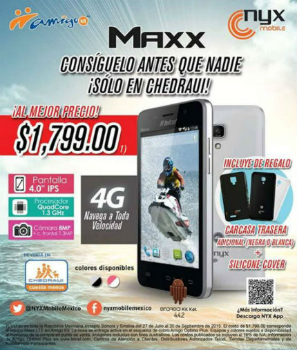 Nyx Maxx con Telcel