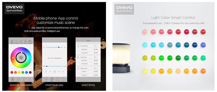 Ovevo Fantasy Pro Z1 con lámpara LED App para controlar la lámpara