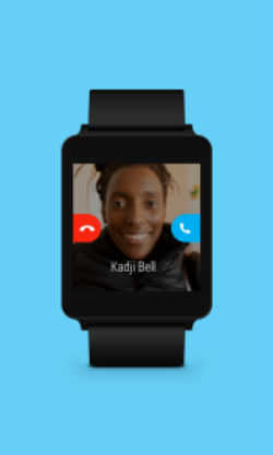 Skype en Android Wear notificaciones