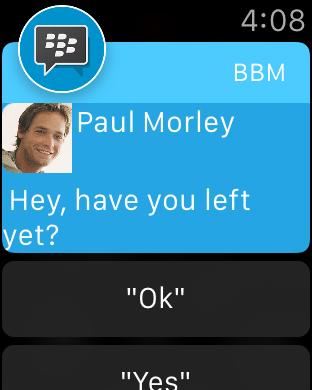 Blackberry messenger en iPhone