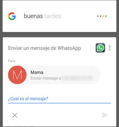 Google Now permite ahora enviar mensajes en español por WhatsApp