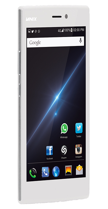 Lanix Illium L1000 phablet en México Lateral pantalla