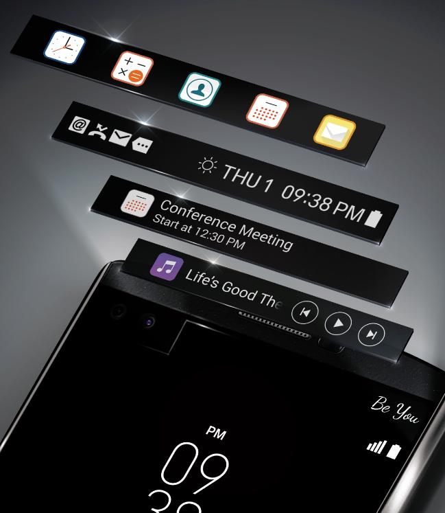 LG V10 pantalla secundaria