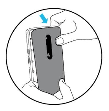 Motorola Maxx 2 carcasa posterior