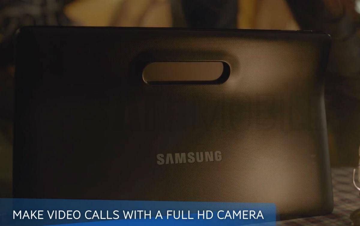 Samsung Galaxy View vista posterior