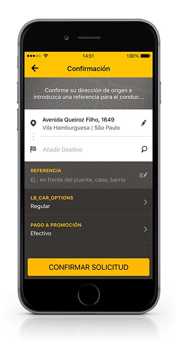 Easy Taxi App México confirmación