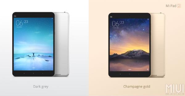Xiaomi Mi Pad 2 colores
