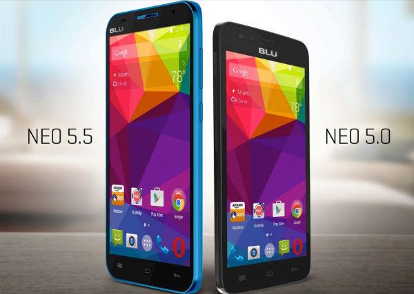 Blu Neo 5.0 y 5.5