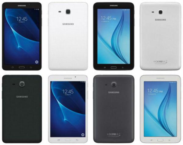 Samsung Galaxy Tab A y Galaxy Tab E 2016