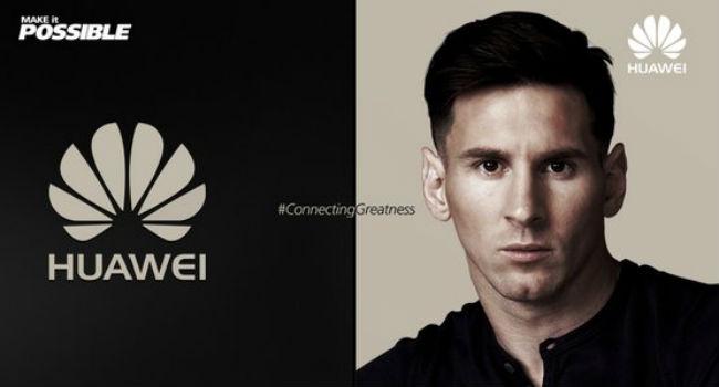 Lionel Messi nueva imagen de Huawei