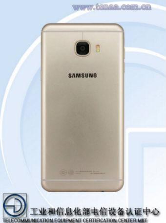 Samsung Galaxy C7 vista posterior