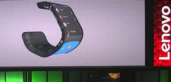Lenovo smartphone con pantalla flexible