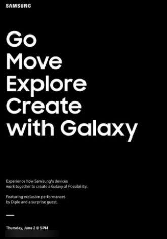 Samsung evento 2 de junio
