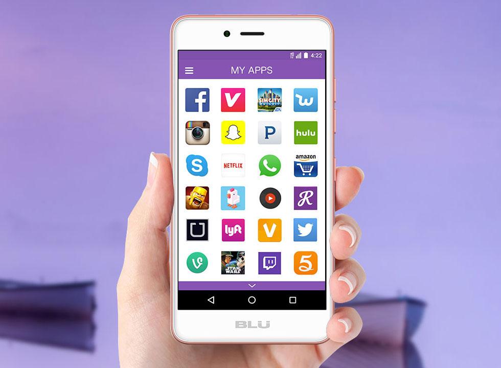 Blu Studio G HD pantalla apps
