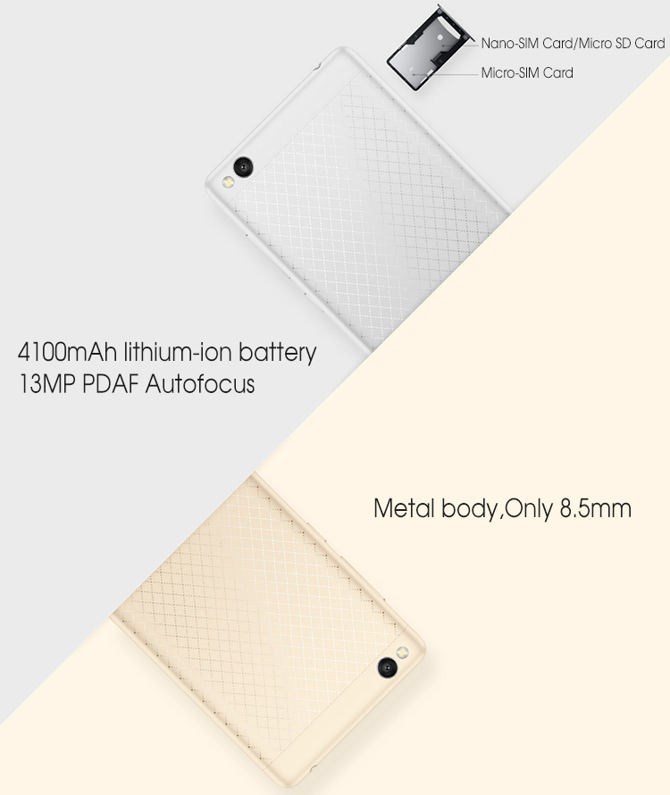 Xiaomi Redmi Note 3 metal body