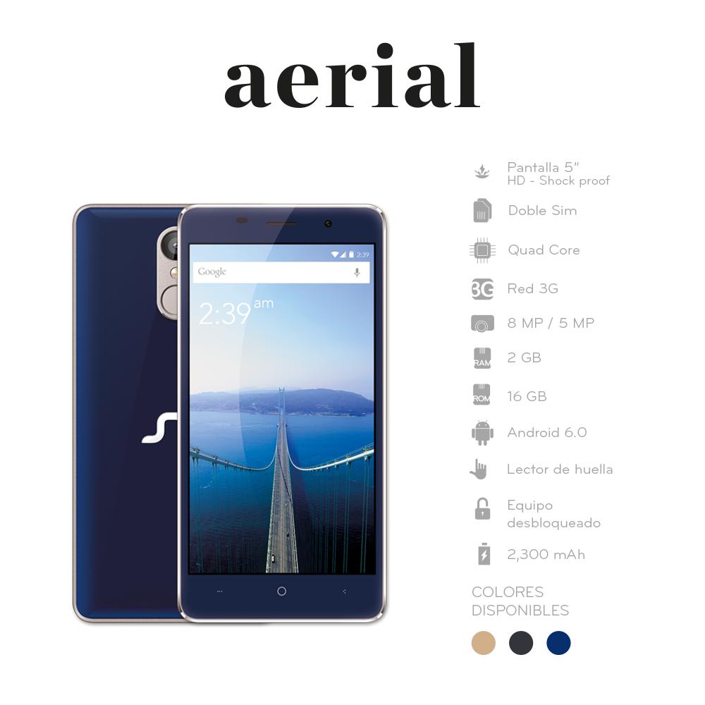 STF mobile Aerial especificaciones