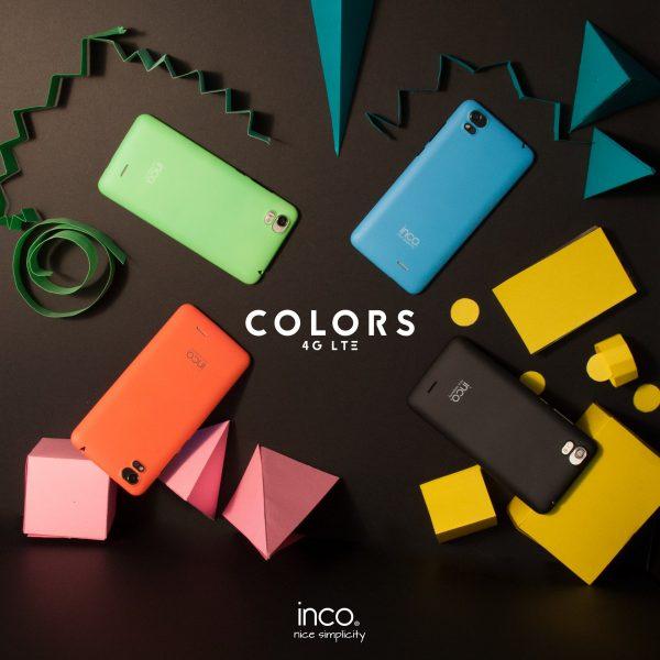Inco Colors 4G LTE modelos