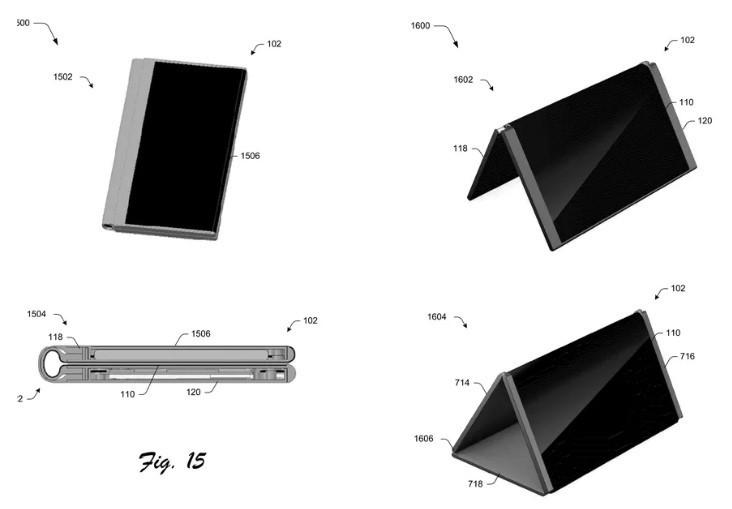 Microsoft patente de pantalla plegable
