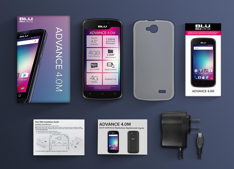 Blu Advance 4.0M accesorios