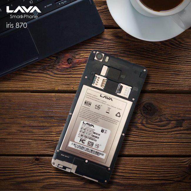 Lava Iris 870 batería