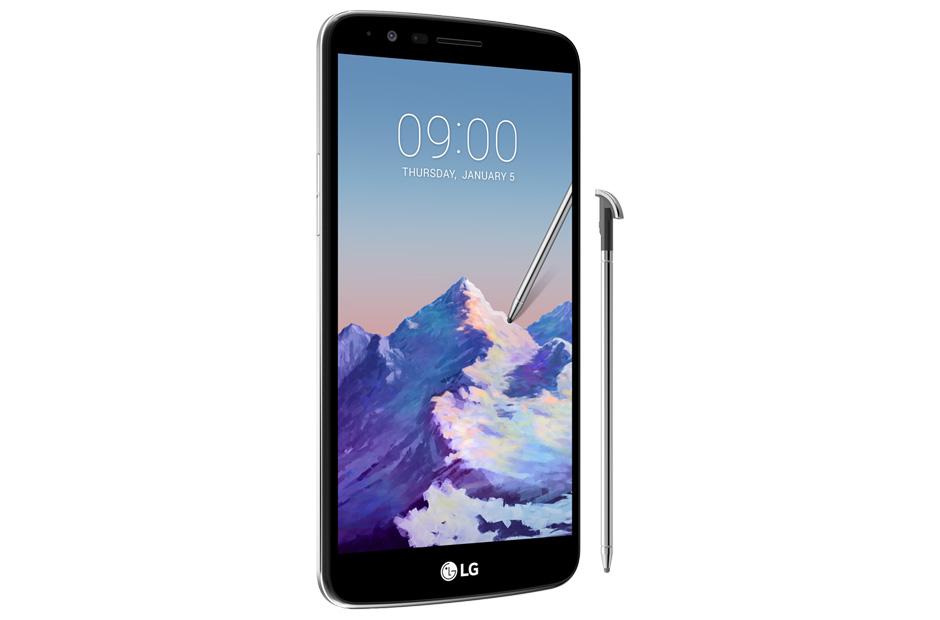 LG Stylus 3 en México pantalla y Stylus de perfil