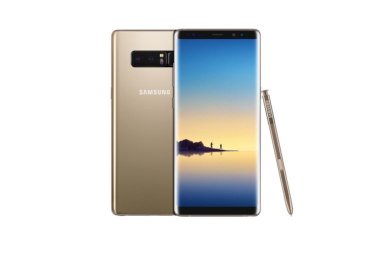 Samsung Galaxy Note 8 en México pantalla Quad HD y S Pen color dorado
