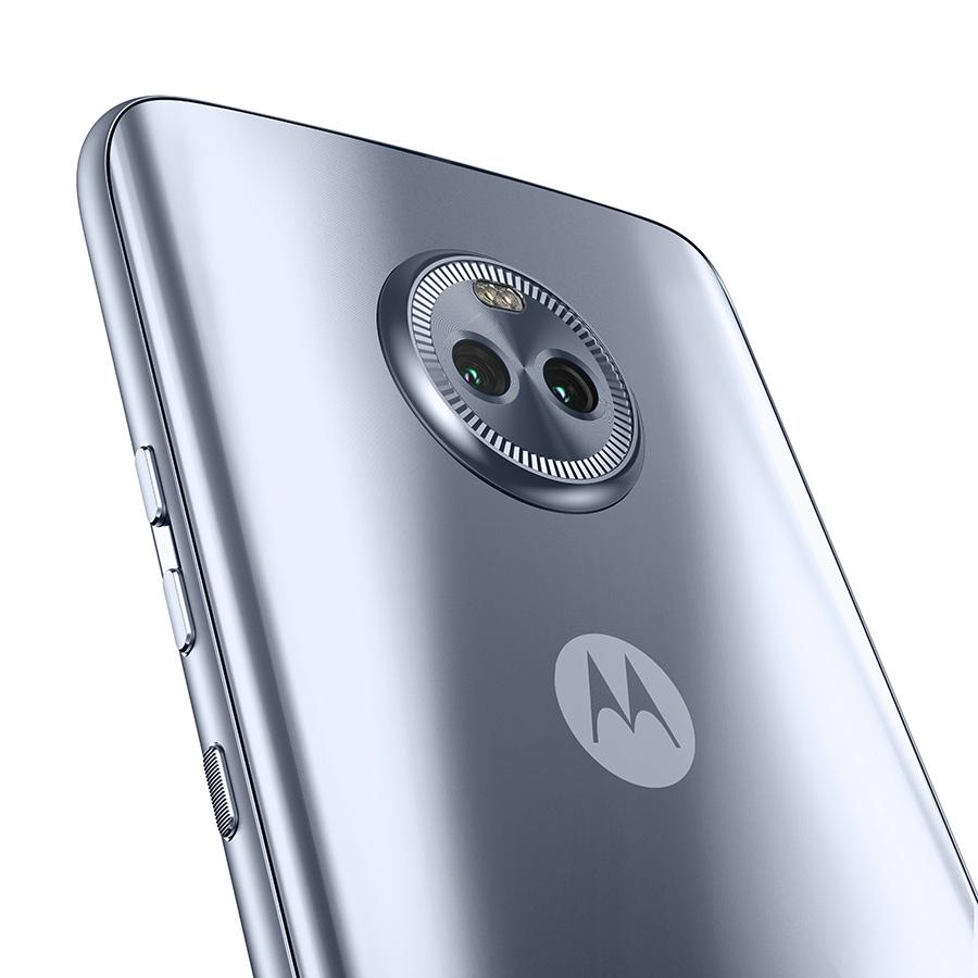Moto X4 en México color azul metálico  cámara trasera