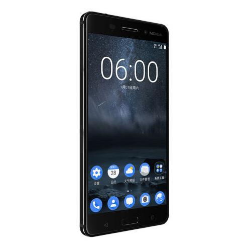 Nokia 6 pantalla de perfil izquierdo