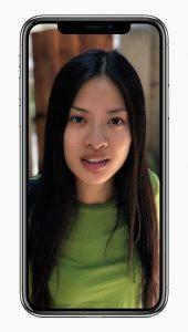 iPhone X cámara frontal precisa para Selfies