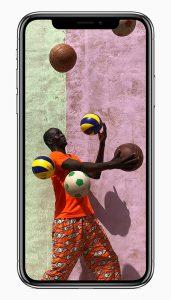 iPhone X en México pantalla con colores vibrantes y vívidos