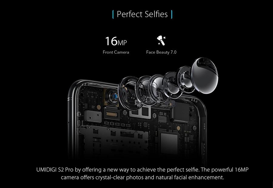 UMIDIGI S2 Pro cámara dual de 12 y 5 MP