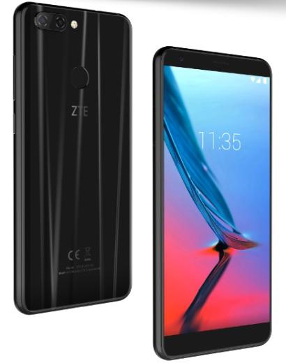 ZTE Blade V9 color negro con cuerpo de cristal fino