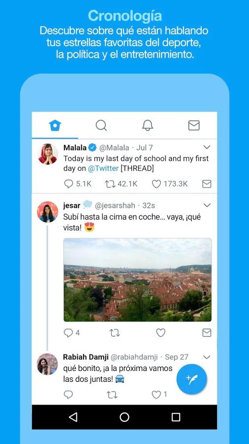 Twitter Lite en  Google Play Store de México - Timeline home