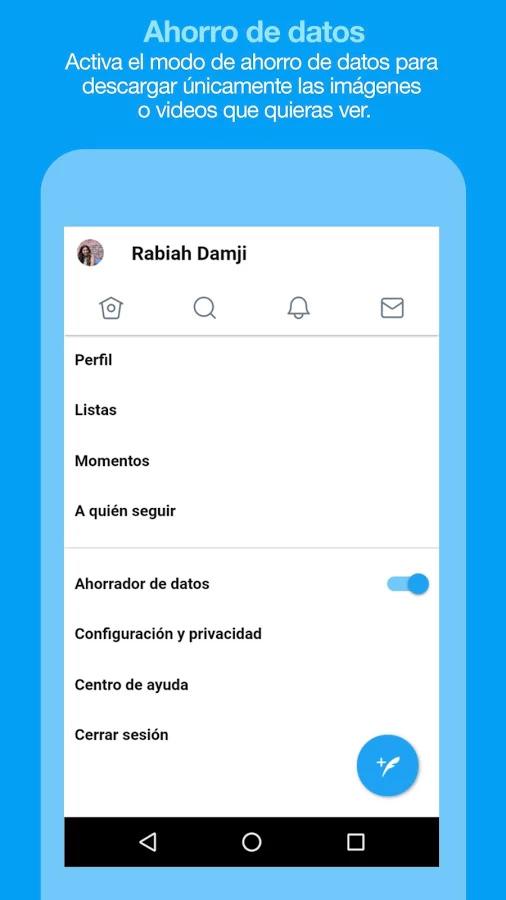 Twitter Lite en Google Play Store de México - Timeline ajustes
