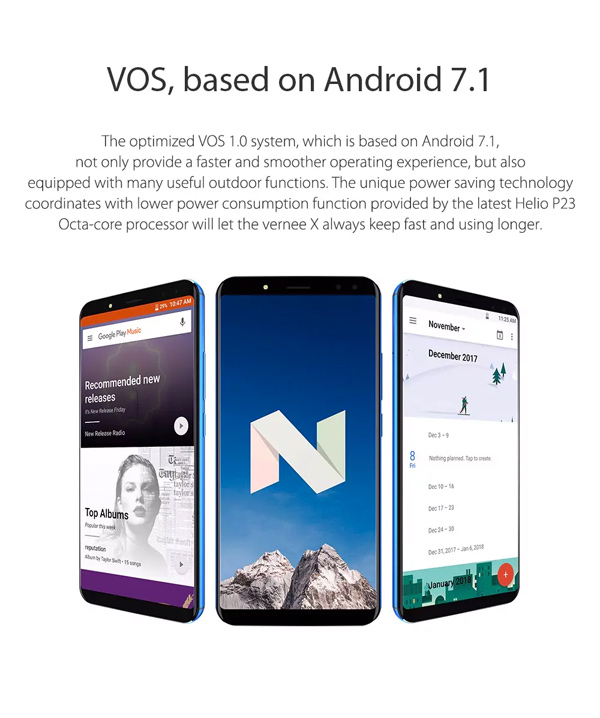 Vernee X 128 GB con Android 7.0