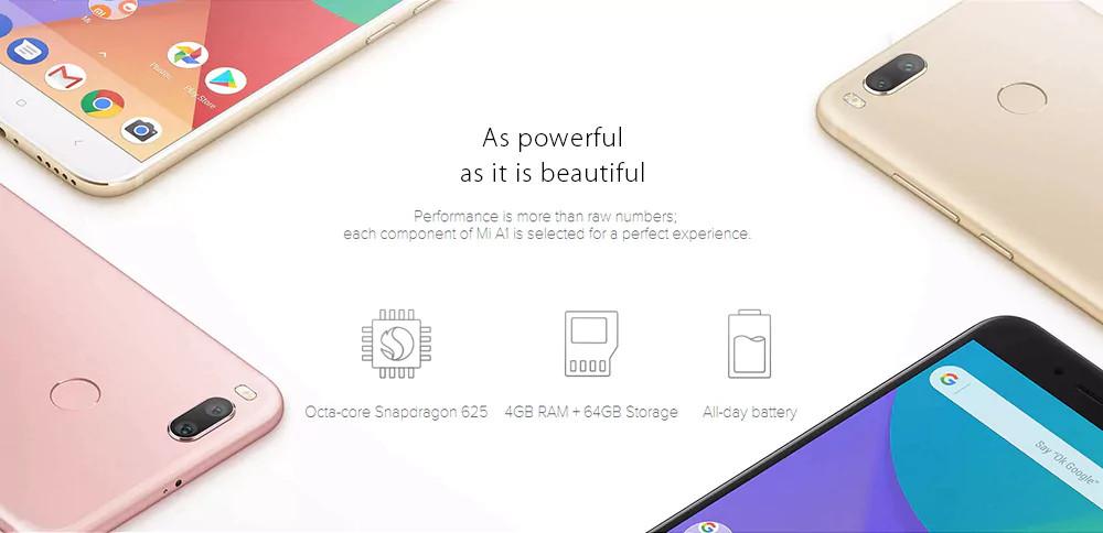 Xiaomi Mi A1 con Android One poderoso en verdad