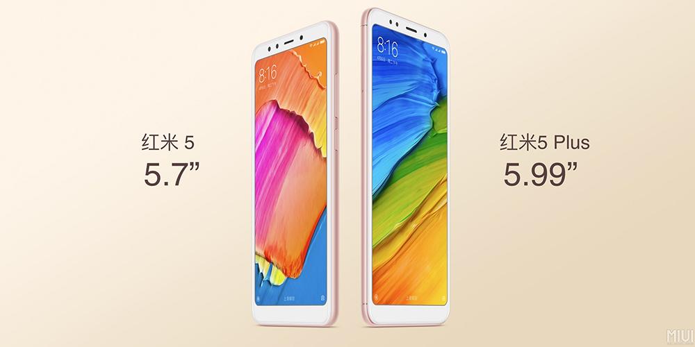 Xiaomi Redmi 5 y Redmi 5 Plus diferencia tamaños de pantalla