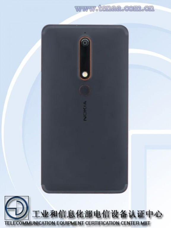Nokia 6 2018 cámara posterior y lector de huellas digitales