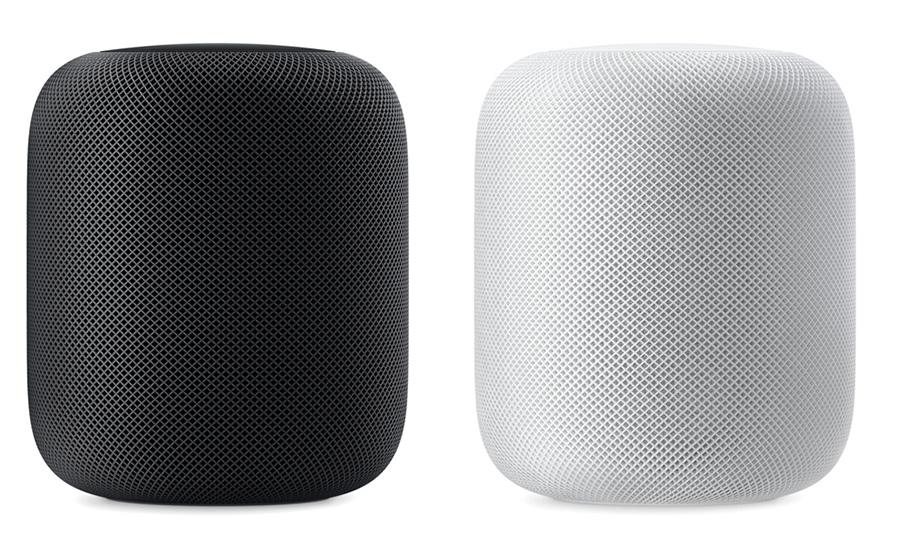 Apple HomePod blanco y gris espacial