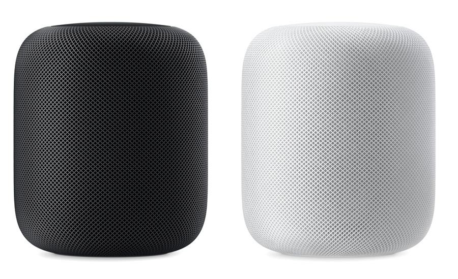 Apple HomePod blanco y gris espacial