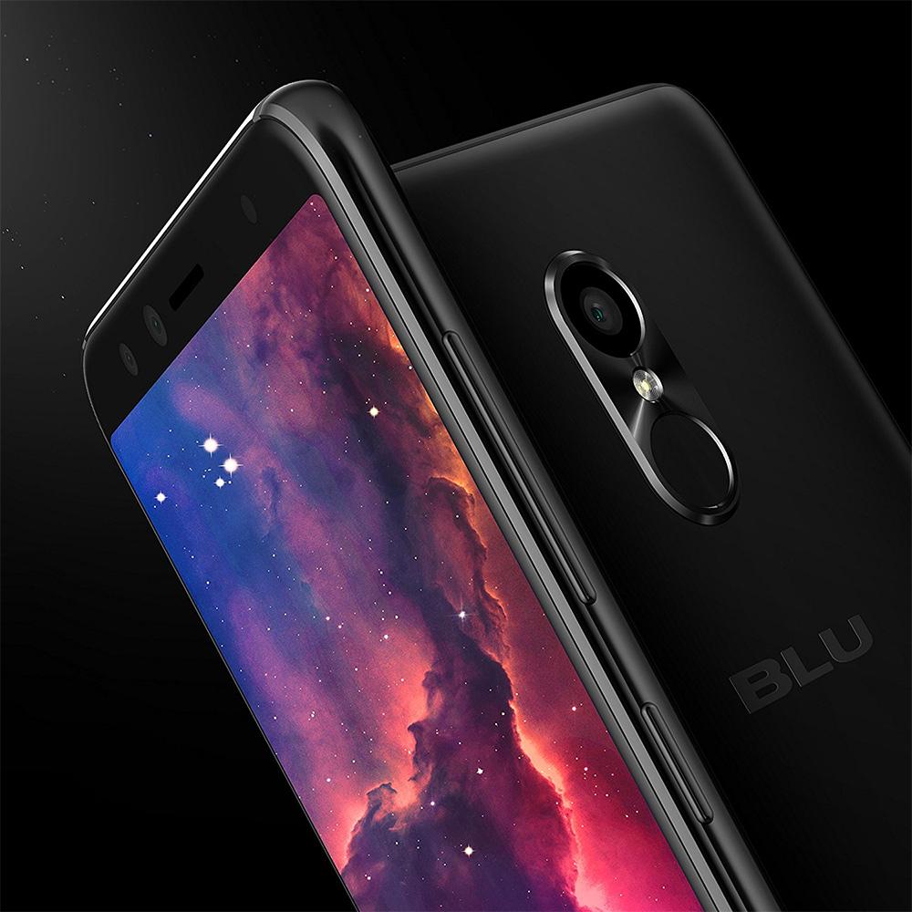 Blu Pure View con pantalla a 18:9 y diseño ultra delgado con cámara frontal dual color negro