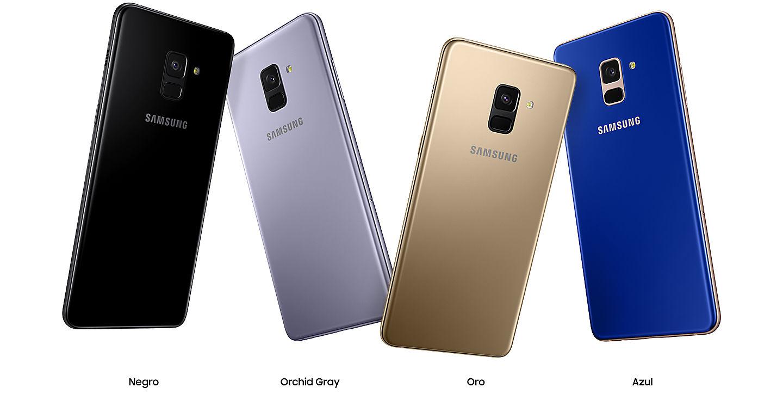 Samsung Galaxy A8+ en México colores disponibles
