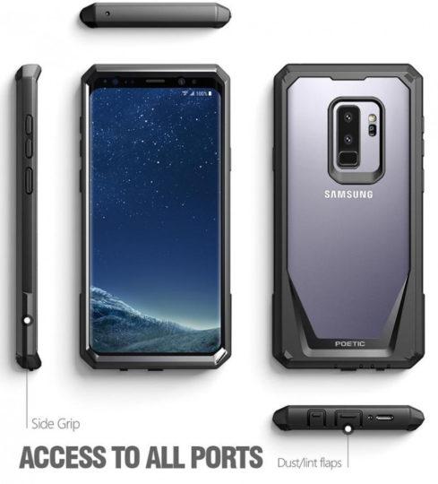Samsung Galaxy S9+ carcasa color negro resistente